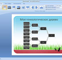 Работа в ms powerpoint